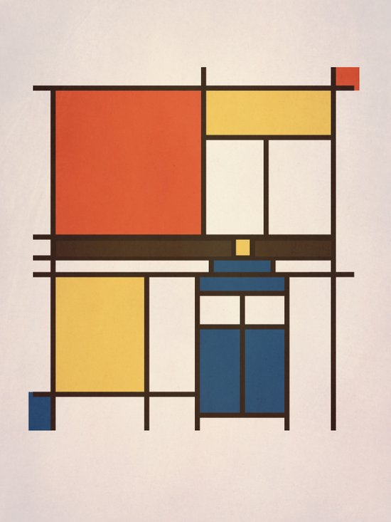 Mondrian Who Art Print