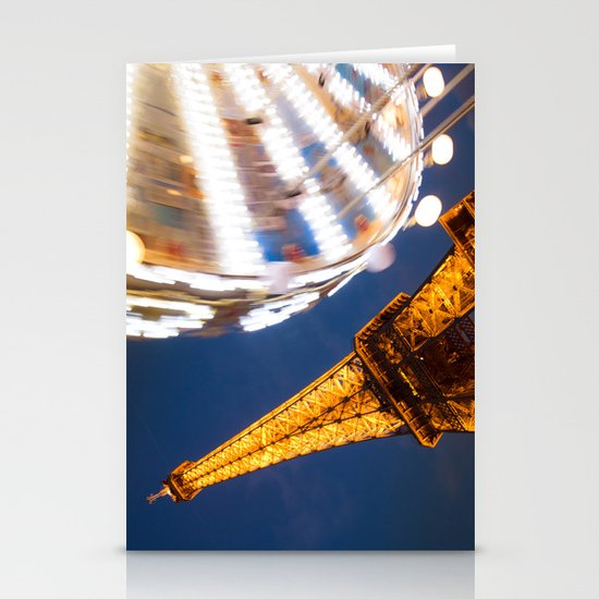 Tour Eiffel Carousel Stationery Card