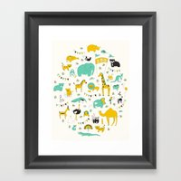 Let's Go To The Zoo Framed Art Print