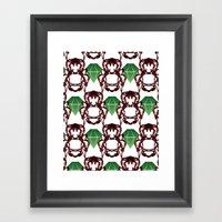 Emeralds & Demons [WHITE… Framed Art Print