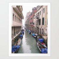 Streets in Venice Art Print