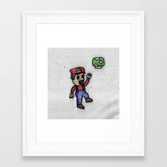 OMG MARIO Framed Art Print