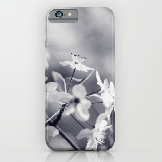 Pear Blossoms in Black and White iPhone & iPod Case