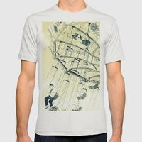 I can touch the sky Mens Fitted Tee Silver SMALL