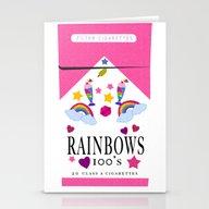 Smoking Rainbows Stationery Cards