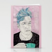 David Lynch Drinking Cof… Stationery Cards