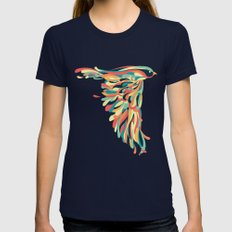 Downstroke Womens Fitted Tee Navy MEDIUM