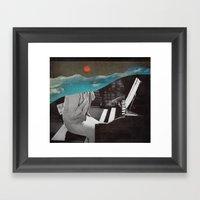 Listen To The Sunset Framed Art Print