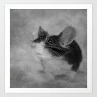 Hello, sweet mouse Art Print