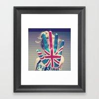 british flag love Framed Art Print