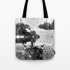 Summer space, smelting selves, simmer shimmers. [extra, 7, grayscale version] Tote Bag
