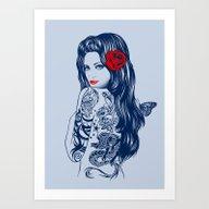 Tattoo Lolita Art Print