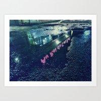 Night ambiance Art Print