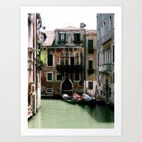 Water Filled Alleyway  Art Print