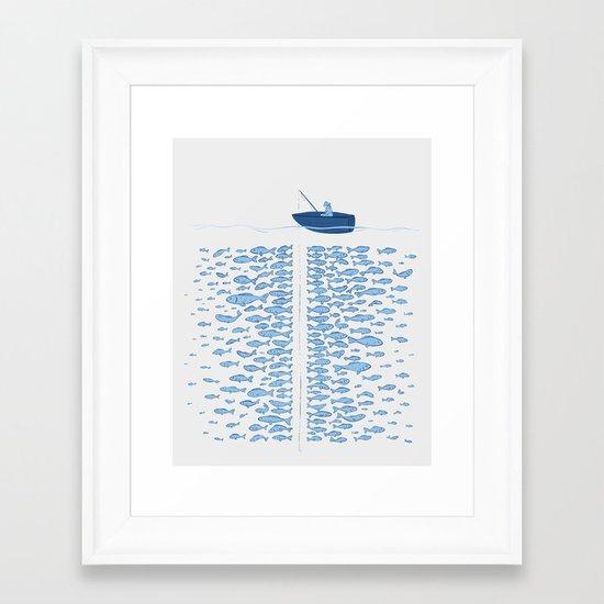 217 Finicky Fish Framed Art Print