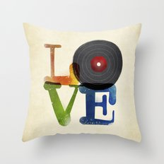 Love is Music Throw Pillow
