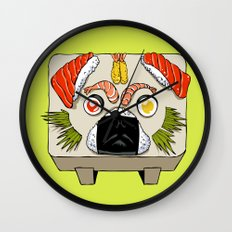Pug Sushi  Wall Clock