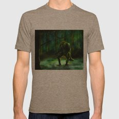 THE SWAMP Mens Fitted Tee Tri-Coffee SMALL