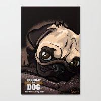 Miss Finn (Baby Pug) Canvas Print