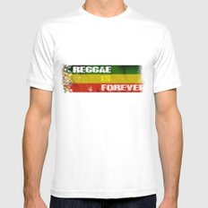 Reggae Is Forever II SMALL White Mens Fitted Tee