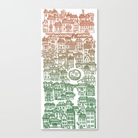 Autumn city Canvas Print