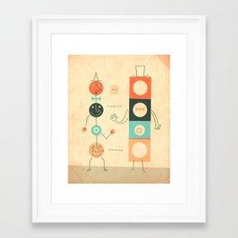 Framed Art Print - Perfect Strangers - Jazzberry Blue