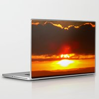 sunset Laptop & iPad Skins featuring Sunset by Aaron Carberry