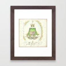 A prince for me.  PrinceFrog Framed Art Print