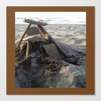 House On The Beach... Canvas Print