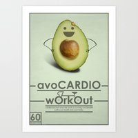AvoCARDIO Workout Art Print