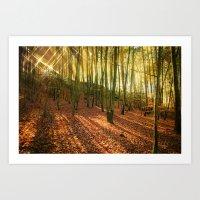 Glittering Forest Art Print