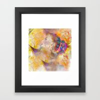 Profile Woman And Flower… Framed Art Print