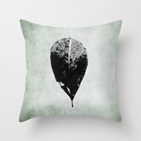 Leaf Skeleton Throw Pillow