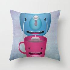 Tea Potty Throw Pillow