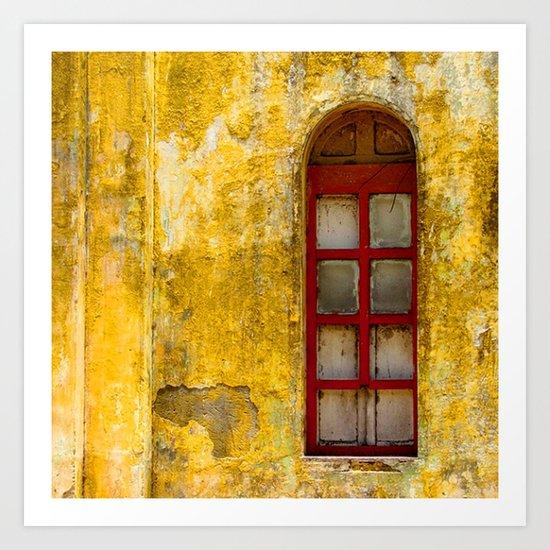 Kitchen Window Uptown Coffee Festival 2016: Window Art Print By Alfredo Rodriguez