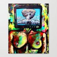 Televised Revolution  Canvas Print