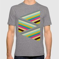 Razzle Mens Fitted Tee Tri-Grey SMALL