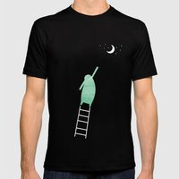 Monster Moon Mens Fitted Tee Black SMALL
