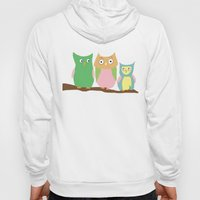 Owl Family Portrait Hoody