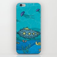 Nautilus under the sea iPhone & iPod Skin