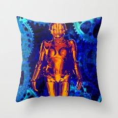 Maria the Robot  Throw Pillow