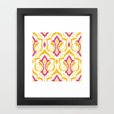 Ikat Damask - Berry Brights Framed Art Print