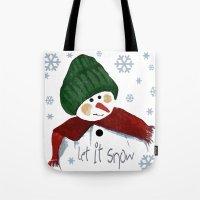 Let's Build A Snowman, L… Tote Bag