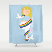 After lost, comes joy Shower Curtain