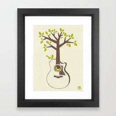 Birds & Acoustic Guitar Framed Art Print