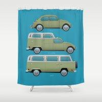 Beetle Camper Shower Curtain
