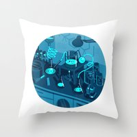 The Lab Throw Pillow