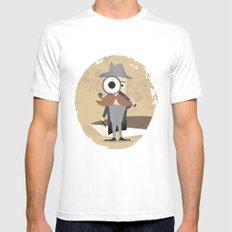 Mr. Detective SMALL White Mens Fitted Tee