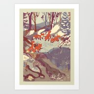 Fisher Fox Art Print