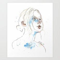 Winter 2016, watercolor Art Print